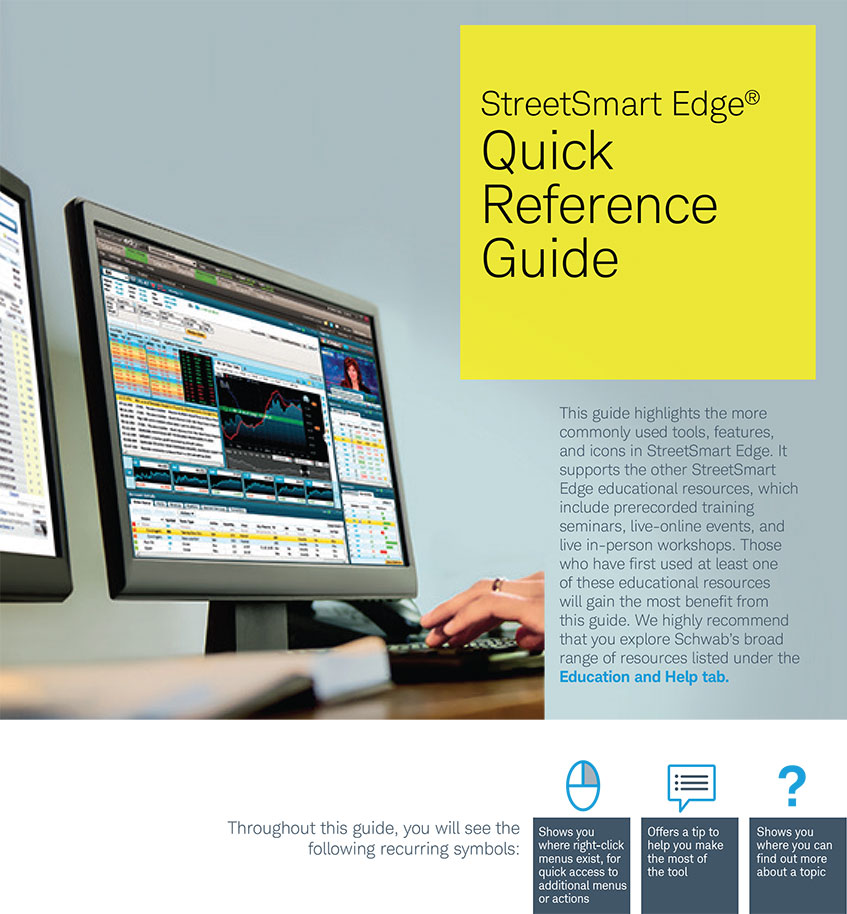 Streetsmart Edge Quick Reference Guide